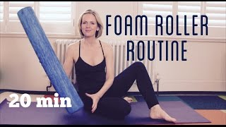 FOAM ROLLER :: 20 min Full Body Foam Rolling Routine by Anita Goa