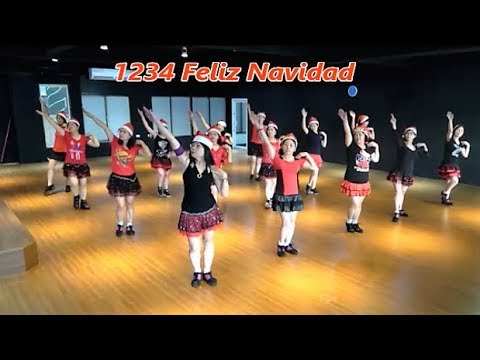 1234 Feliz Navidad (by Sally Hung) - Line Dance (Demo & Walkthru) ~ 1234聖誕快樂 - 排舞(含導跳)