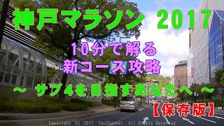 神戸マラソン2017コース攻略KobeMarathon2017courseCapturePreparation