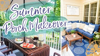 SUMMER PORCH MAKEOVER | FARMHOUSE PORCH DECORATING IDEAS | PATIO DECORATE WITH ME