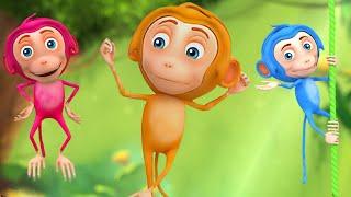 Niños animados en 3D y video de rima infantil