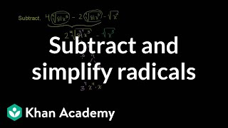 Subtracting and Simplifying Radicals