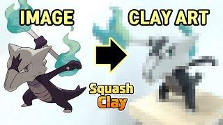 Pokémon Clay Art: Alolan Marowak Dark/Fire type Pokémon!!
