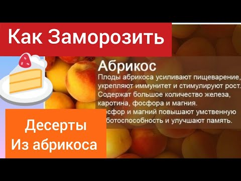 Абрикос как заморозить. Десерты из абрикоса