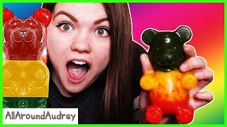 Making DIY Giant Gummy Bear And Lollipops Learn How To Make Candy / AllAroundAudrey