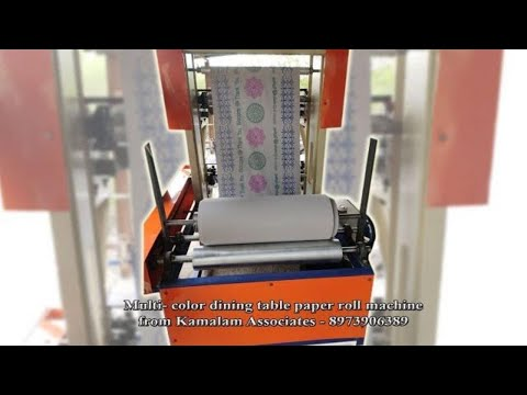 Table Roll Printing Machine