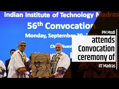 PM Modi attends Convocation ceremony of IIT Madras