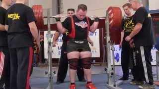 preview picture of video 'Kevin Jäger (PL Duisburg) Kniebeugen 3.V.: 360,5 kg - 2014 DM KDK Junioren'