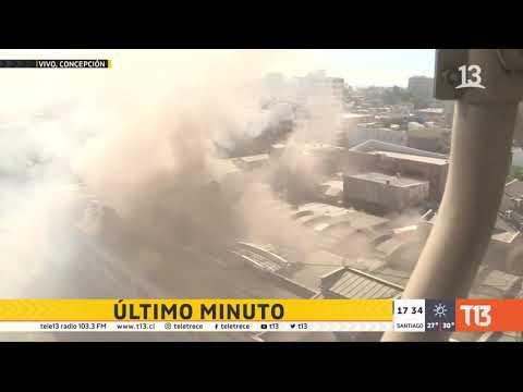 Incendio afecta a gobernación de Concepción y galería comercial