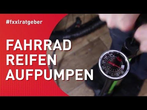 Fahrradreifen aufpumpen: Blitzventil, Autoventil und französisches Ventil