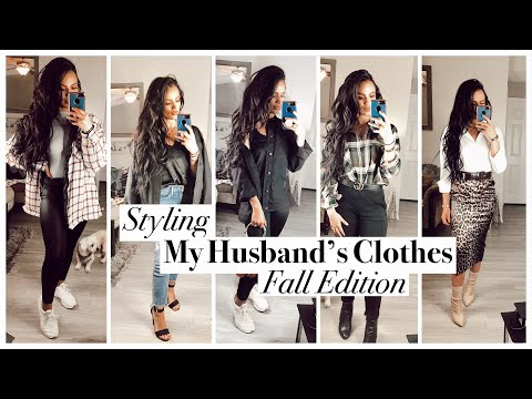 Styling FALL OUTFITS W/ My Husband's Clothes! | Janelle Mariss