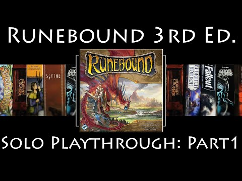Runebound 3rd Edition: Rules Overview & Solo Playthrough | The Ascendance of Margath | Part 1
