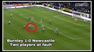 Analysing the goal | Burnley 1-0 Newcastle United
