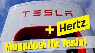 100.000 Model 3 auf einmal verkauft! Der Hammer! Hertz flottet Tesla groß ein.