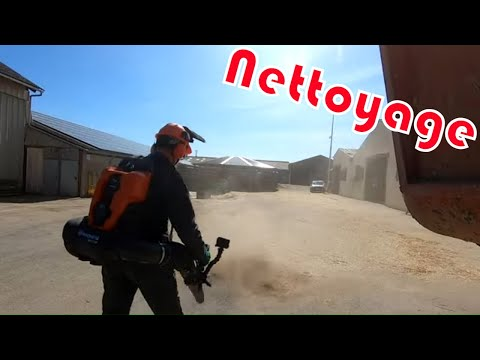 Nettoyage des écuries et de la CLAAS et Test HUSQVARNA 340 IBT Nettoyage des écuries et de la CLAAS et Test HUSQVARNA 340 IBT