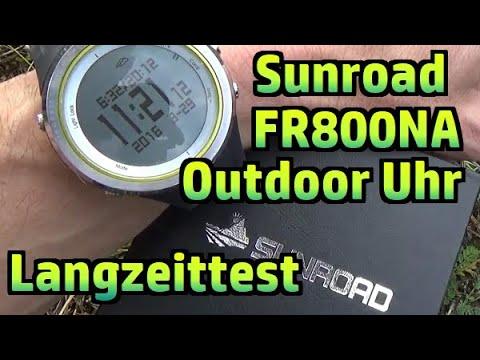 Outdoor Uhr Sunroad FR800NA Barometer Höhenmesser Kompass Langzeit Test Review #184