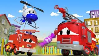 Der Streifenwagen in Autopolis - Zu viele Süßigkeiten - Lastwagen Zeichentrickfilme für Kinder 🚓 🚒