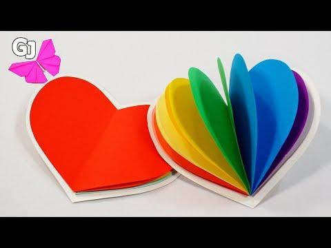 Радужный Блокнот СЕРДЕЧКО своими руками ❀ Валентинка DIY