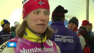 Birkie skiers and spectators enjoy party in place of race
