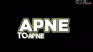 Apne to apne hote hai lyrics on Black screen status - YouTube