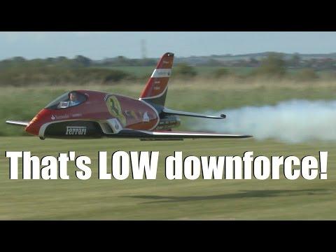 "LOW FLYING Scuderia FERRARI F1 ""Futura"" turbine JET (with ONBOARD views)"