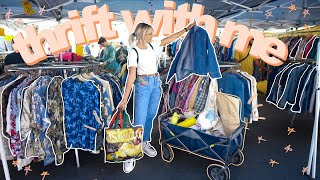 COME THRIFT WITH ME AT THE ROSE BOWL FLEA MARKET | BIG over $200 try on thrift store haul