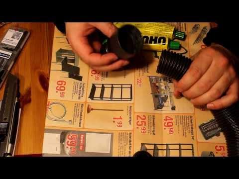 Staubsaugerschlauch reparieren Teil 03/04: Vorbereitung zum Einkleben