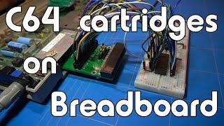 C64 cartridges on breadboard