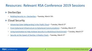 Virtual Session: Annual Roundtable with RSA Conference 2019 Advisory Board
