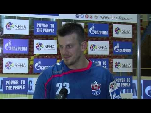 Maks Strumica - Meshkov Brest Post Match Interview (11.09.2015. - 15/16)