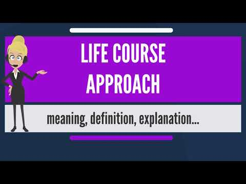 What does LIFE COURSE APPROACH mean? - YouTube