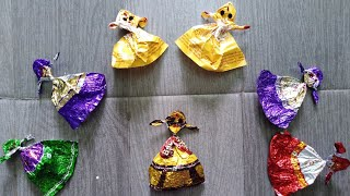 Make Beautiful Dancing Dolls With Chocolate Wrappers