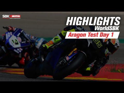 スーパーバイク 公式テストのハイライト動画