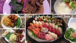 Meal Plan | What's For Dinner | June 2