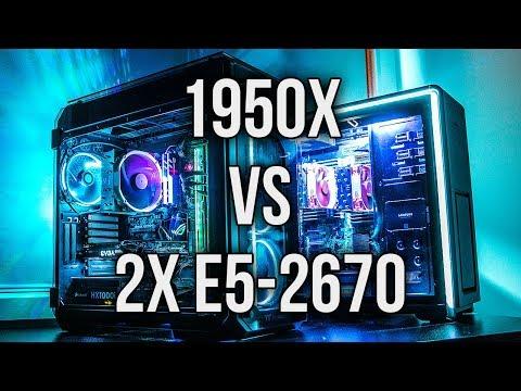 16 CPU Core Comparison – AMD 1950X Threadripper vs 2x Intel Xeon E5-2670