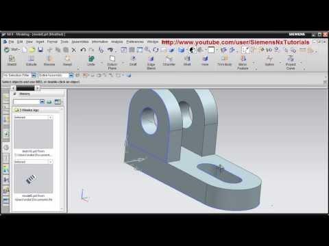 Siemens Nx CAD Basic Modeling Training Tutorial for Beginner - 2 ...