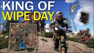 The KING of WIPE DAY! - Rust Solo Survival #1