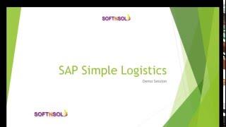 SAP S4 HANA Simple Logistics Training | SAP Simple Logistics Training | Simple Logistics