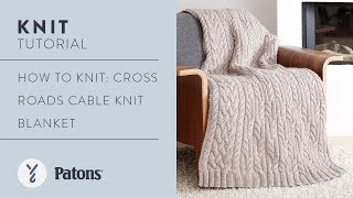 Knit: Cross Roads Cable Knit Blanket