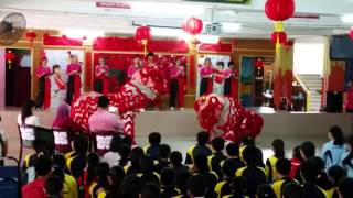 preview picture of video '(4K) Lion Dance(舞狮表演)- Calligraphy Competition '15(挥春比赛 '15)'