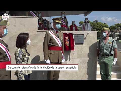 La Legión española celebra su centenario en Viator (Almería) con un acto presidido por el rey