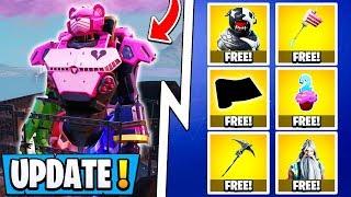*NEW* Fortnite 9.40 Update!   All 12 Free Items, Mecha vs Monster Event, Skins!
