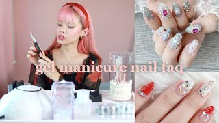 HUGE NAIL FAQ! How To Do Gel Nails & Nail Art At Home For Beginners 🎀 Everything I Use For Manicures
