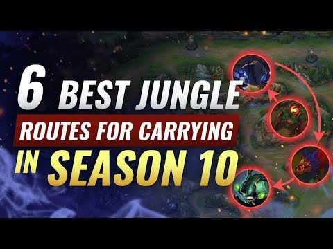 6 Most OPTIMAL Jungle Paths in Season 10  - League of Legends