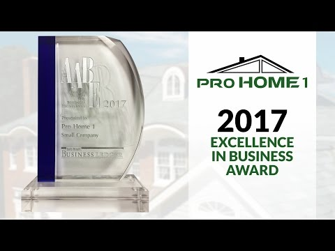 It is a great honor to be nominated and won the 2017 Annual Award for Excellence in Business by The Daily Herald Business Ledger!  Pro Home 1 is immensely proud of this achievement, which highlights our efforts in dedication, hard work, and truly caring about our clients by providing them with the highest-quality of service and products.