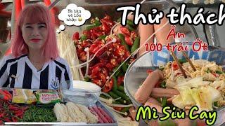 Thử Thách Ăn Mì Tôm Và 100 Trái Ớt Cay Xé Họng Anh Quay Phim Khóc Như Con Nít 😂 NanaLiu