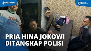 Detik-detik Pria yang Viral Hina Presiden Jokowi dan Polisi di Bangkalan Ditangkap Polisi