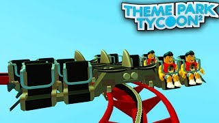 The WING COASTER in Theme Park Tycoon! | Roblox