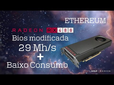 Reference XFX RX 480 (8GB w/ Samsung memory) — Ethereum