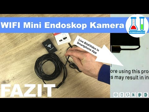 Günstige Mini WIFI Endoskop Kamera - Live Video per Smartphone App / Test + Fazit / deutsch